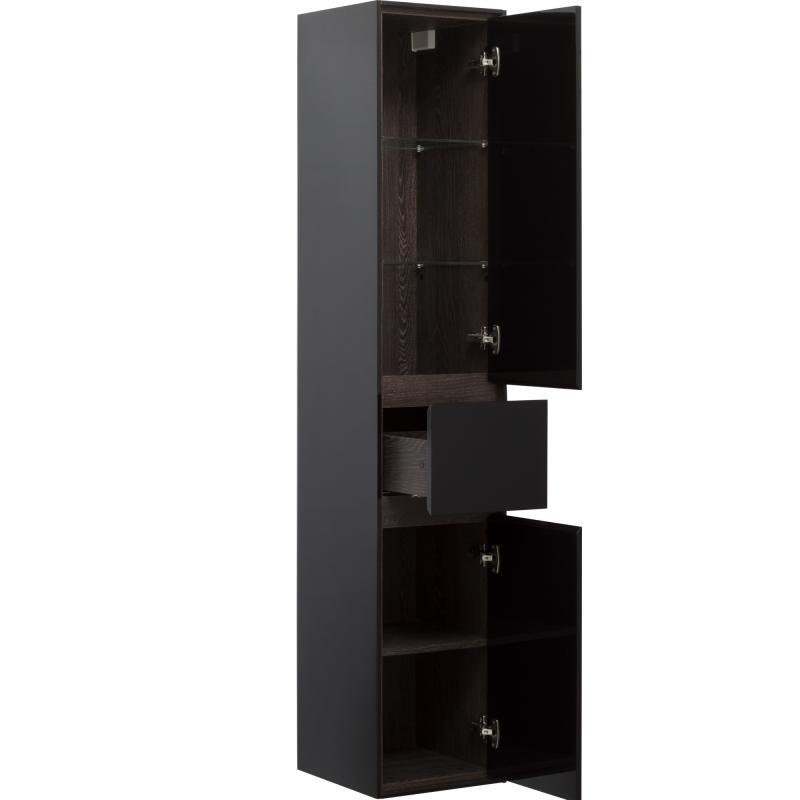 Пенал «Мокка» 35 см, цвет чёрный глянец