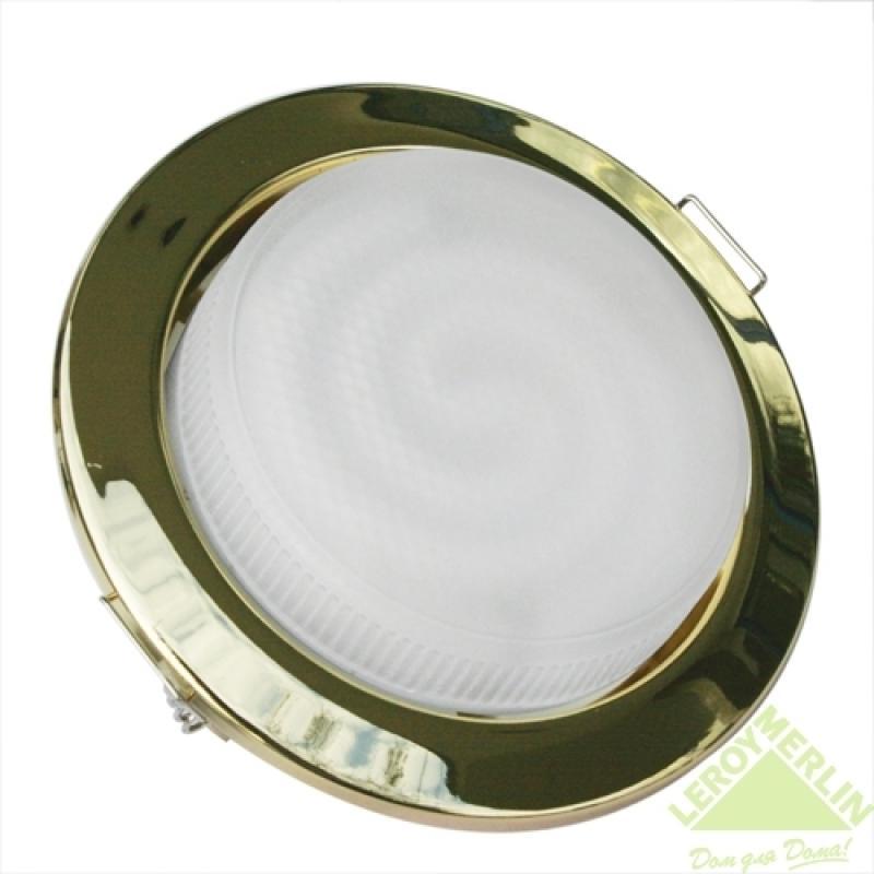 Спот встраиваемый Карина энергосберегающий GX53х12Вт золото