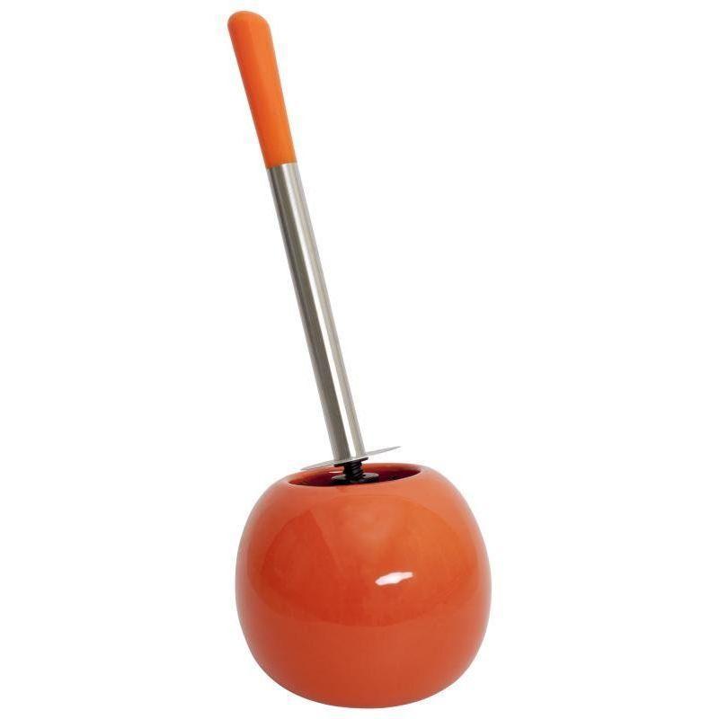 Ёршик для унитаза напольный «Legend», керамика, цвет оранжевый