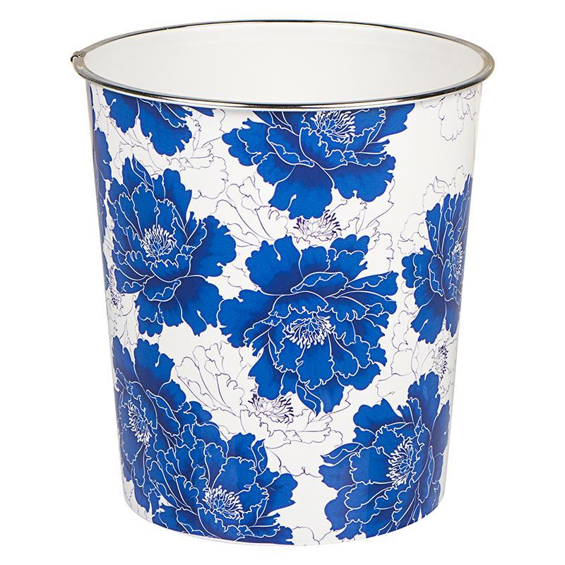 Бак для мусора 7 л цвет синий/белый