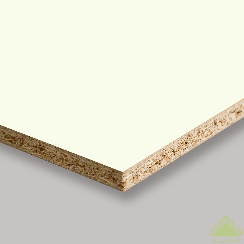 Панель мебельная без кромки 2720х1200х16 мм цвет белый