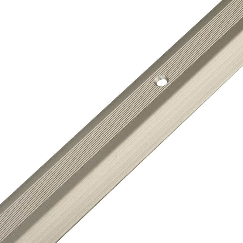 Порог разноуровневый (кант) алюминиевый, цвет шампань, 100x3 см