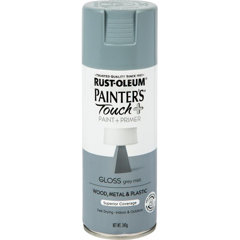 Краска аэрозольная Paint Touch глянцевая цвет серый 340 г