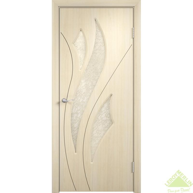 Дверное полотно остеклённое Латина Дельта 90x200 см, ПВХ, белёный дуб