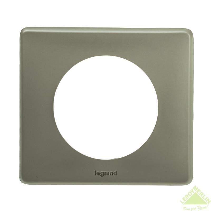 Рамка для розеток и выключателей Celiane, 1 пост, цвет норка