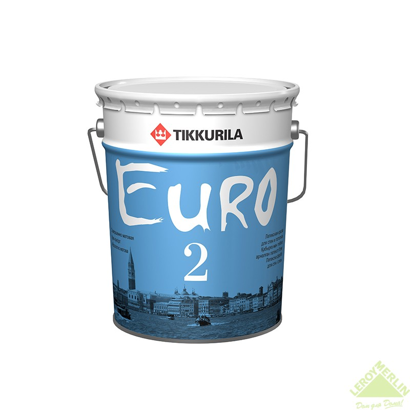 Краска водно-дисперсионная Евро 2, 18 л