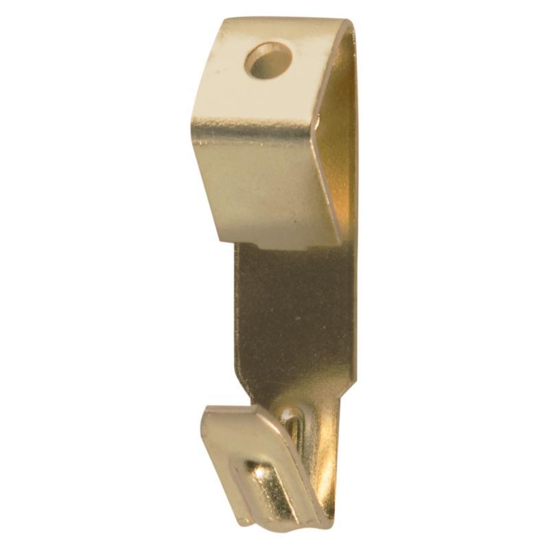 Крюк для картины на 1 гвозде, латунированный, сталь, 10 шт.