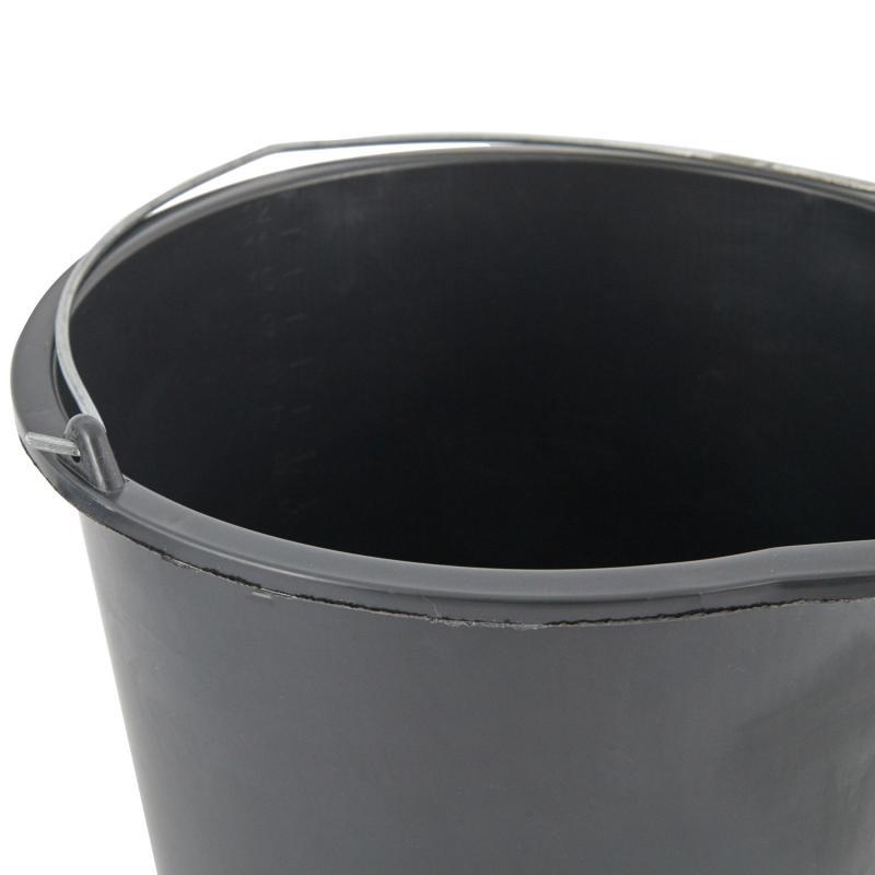 Ведро 20 л пластиковое цвет чёрный