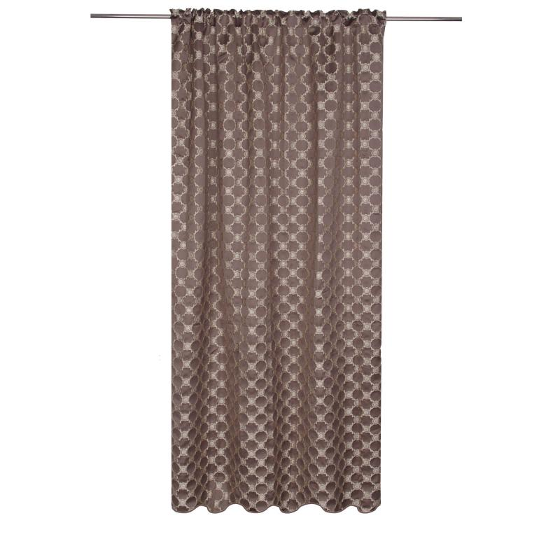 Штора на ленте «Кали» 140х260 см цвет коричневый