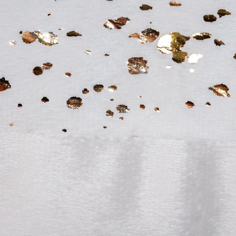 Подушка «Dott», 40х40 см, плюш, цвет золотой