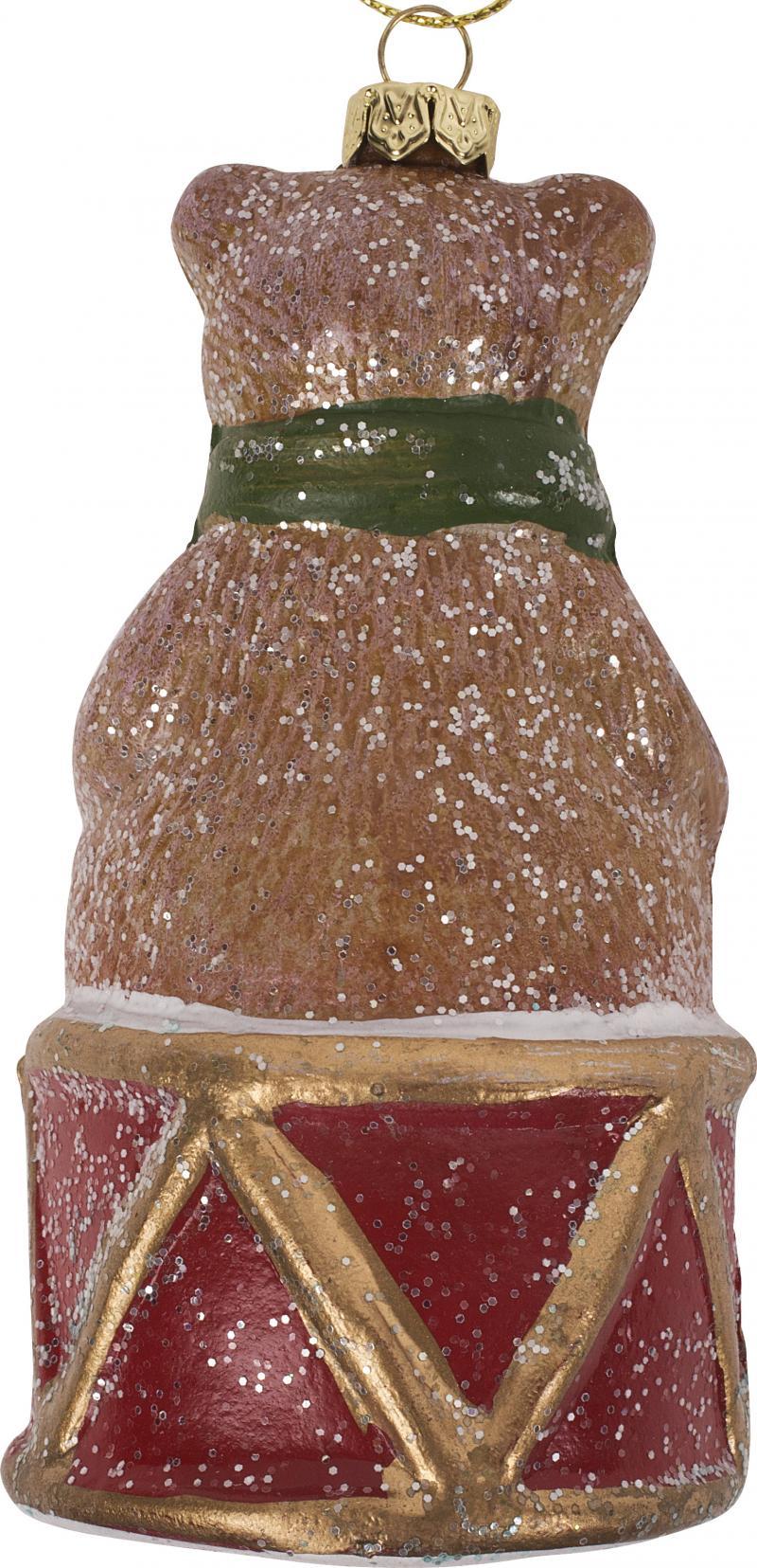 Украшение ёлочное «Мишка на барабане», 11.5 см