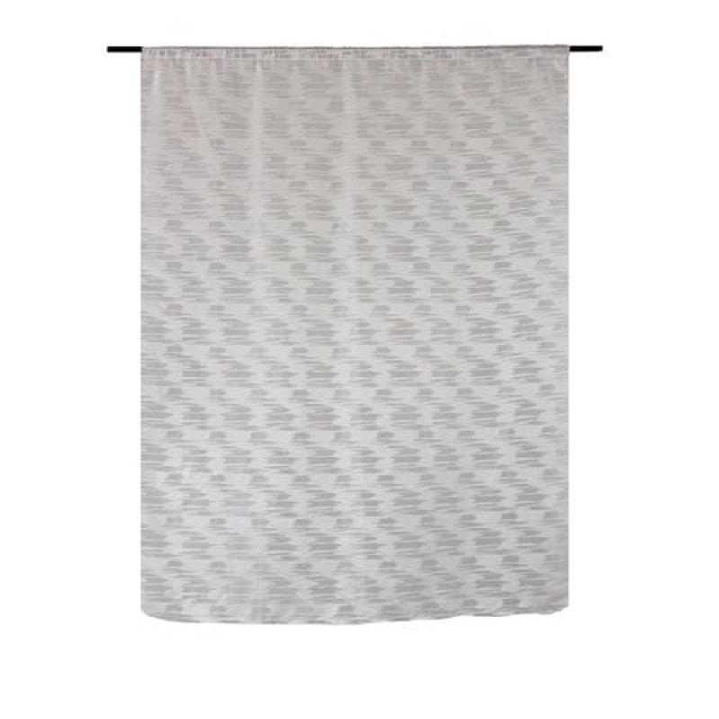 Штора на ленте «Франка» 200х260 см цвет серый