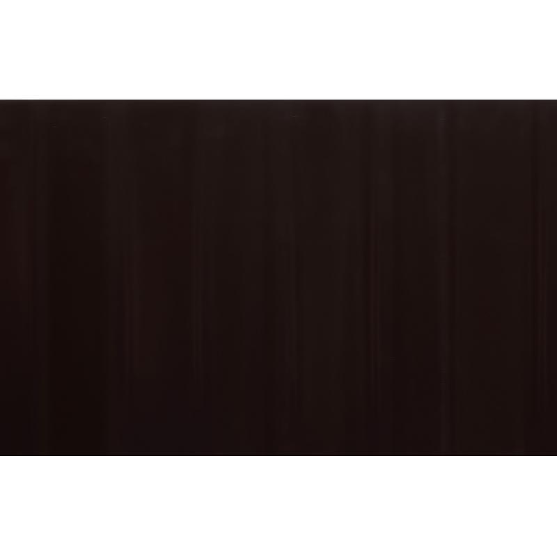 Лента бордюрная декоративная «Гофра» высота 15 см цвет  коричневый