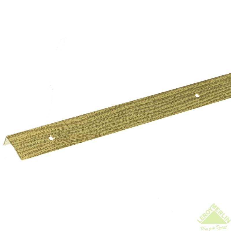 Порог алюминиевый Угол-267 дуб, 1000x30x15 мм