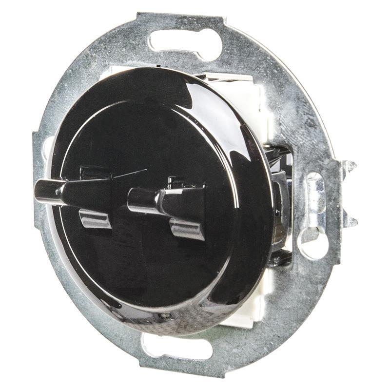 Переключатель LK Vintage 2-рычажковый с двух мест 250B, черный