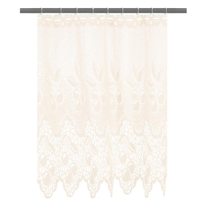 Занавеска для кухни «Ягода», 145х70 см, жаккард, цвет молочный