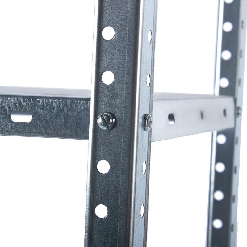Стеллаж 75x147x30 см 4 полки, металл оцинкованный