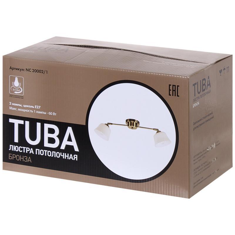 Люстра потолочная «Tuba», 2xЕ27x60 Вт