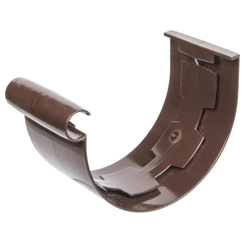 Муфта соединительная для желоба 115 мм цвет коричневый