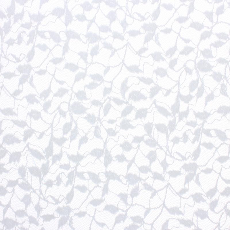 Тюль 1 п/м «Листочки», гипюр, 290 см, цвет белый