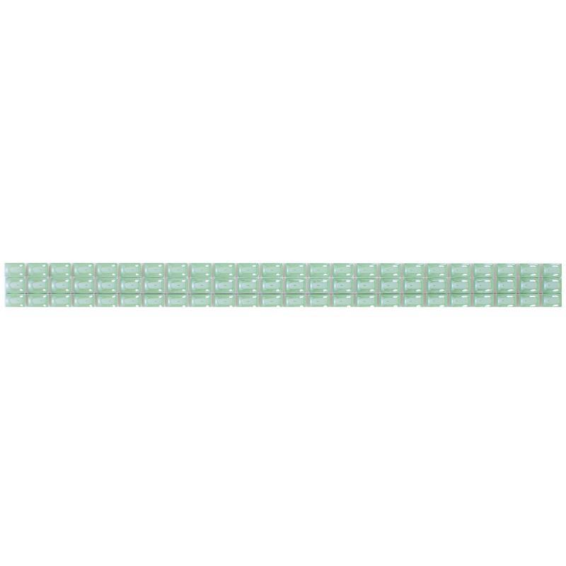 Бордюр «Капсула люстрированный фриз» 7х250 мм цвет зелёный