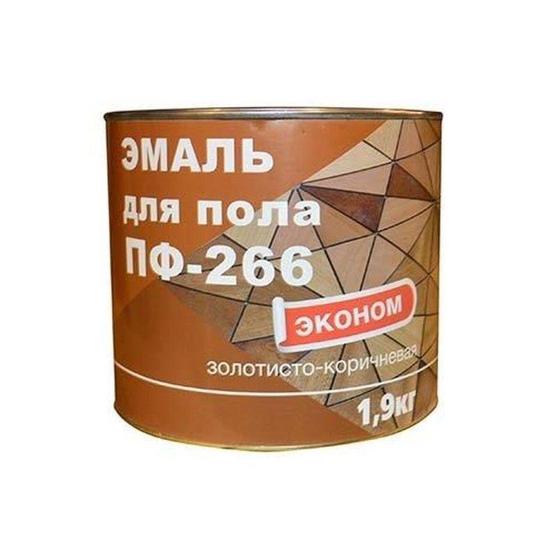 Эмаль ПФ-266 золотисто-коричневая, 1,9кг
