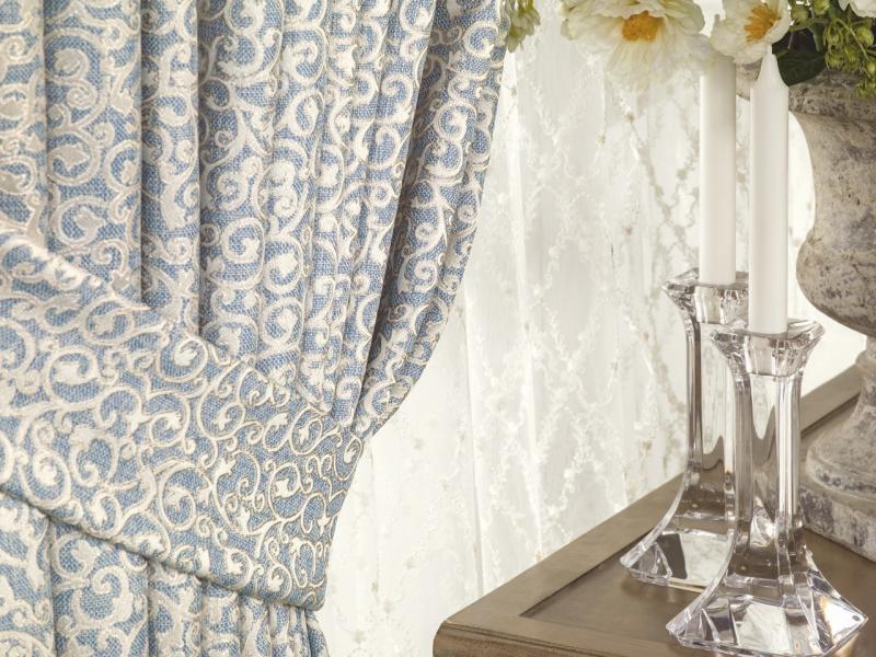 Тюль 1 п/м «Изабель», вышивка, 295 см, цвет шампань