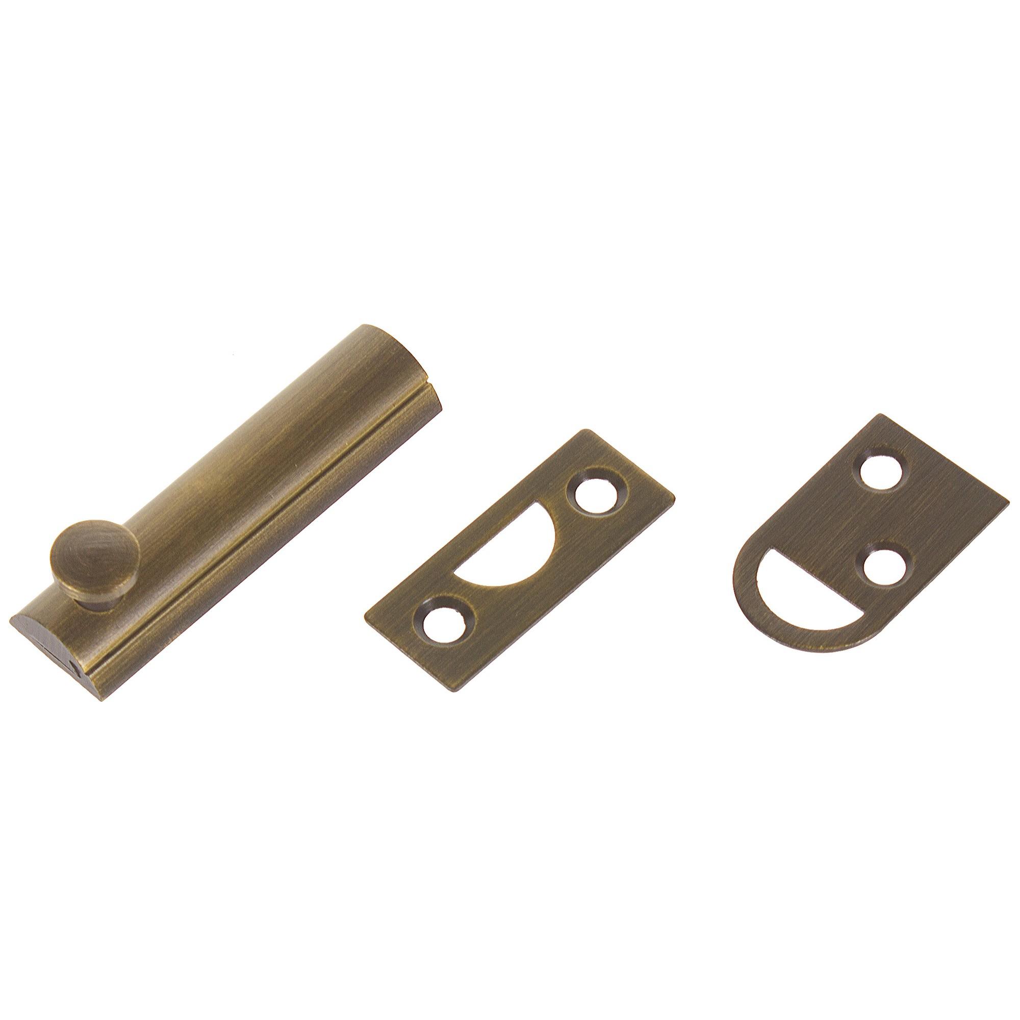 Задвижка механическая Amig Модель 600-60, 60х17 мм, сталь, цвет бронза