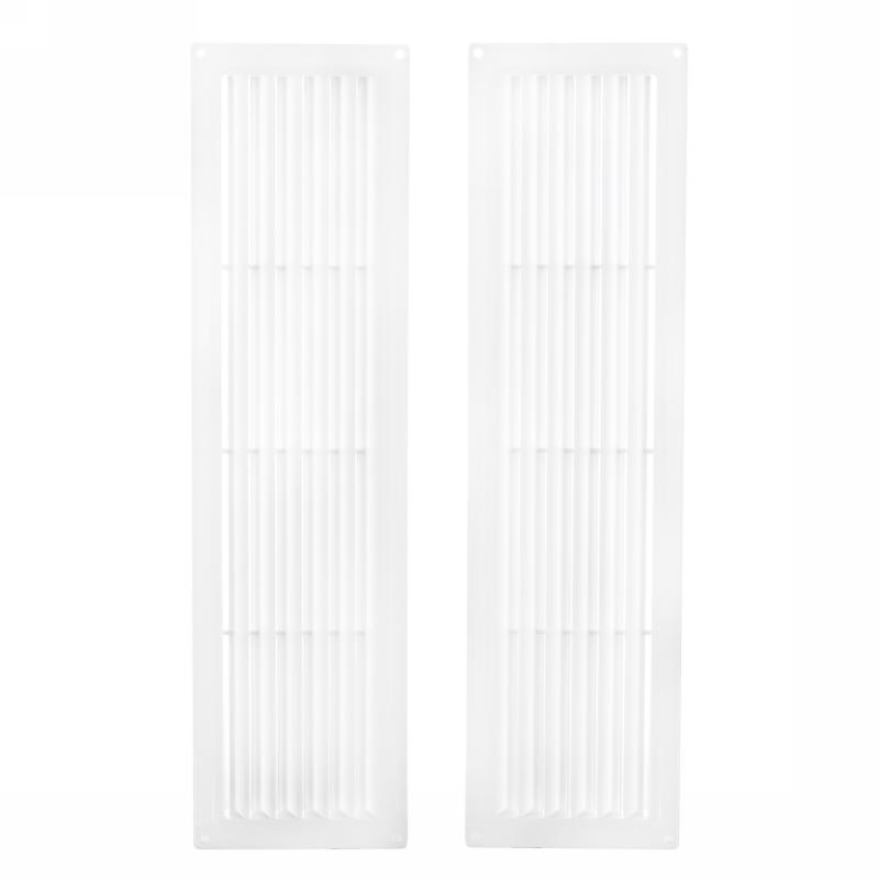 Решетка дверная вентиляционная Вентс МВ 450/2, 124x462 мм, цвет белый