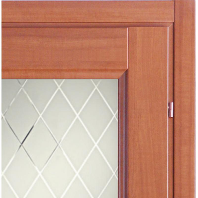 Дверь межкомнатная Танганика остеклённая CPL 70x200 см (с замком)