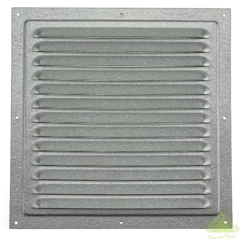 Решетка вентиляционная металлическая оцинкованная с сеткой, 250 мм
