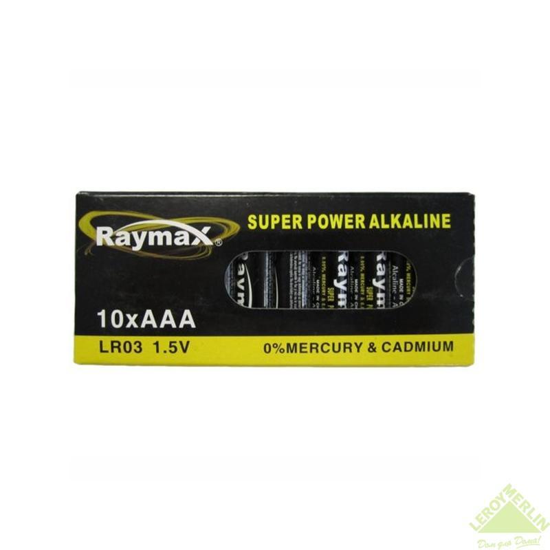 Батарейка алкалиновая ААА, 10 шт.