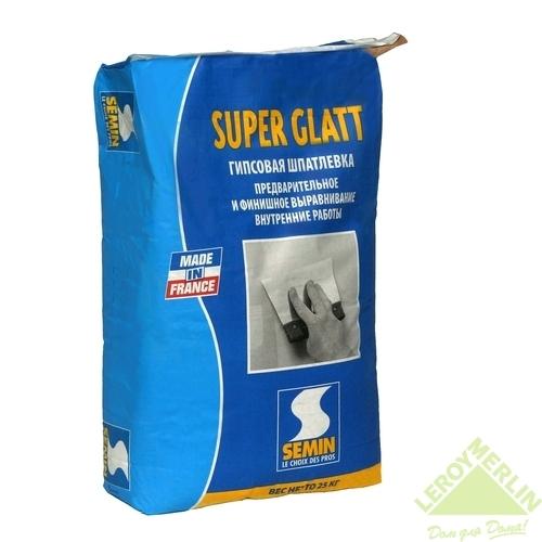 Шпаклёвка финишная выравнивающая Semin SUPER GLATT (25 кг)