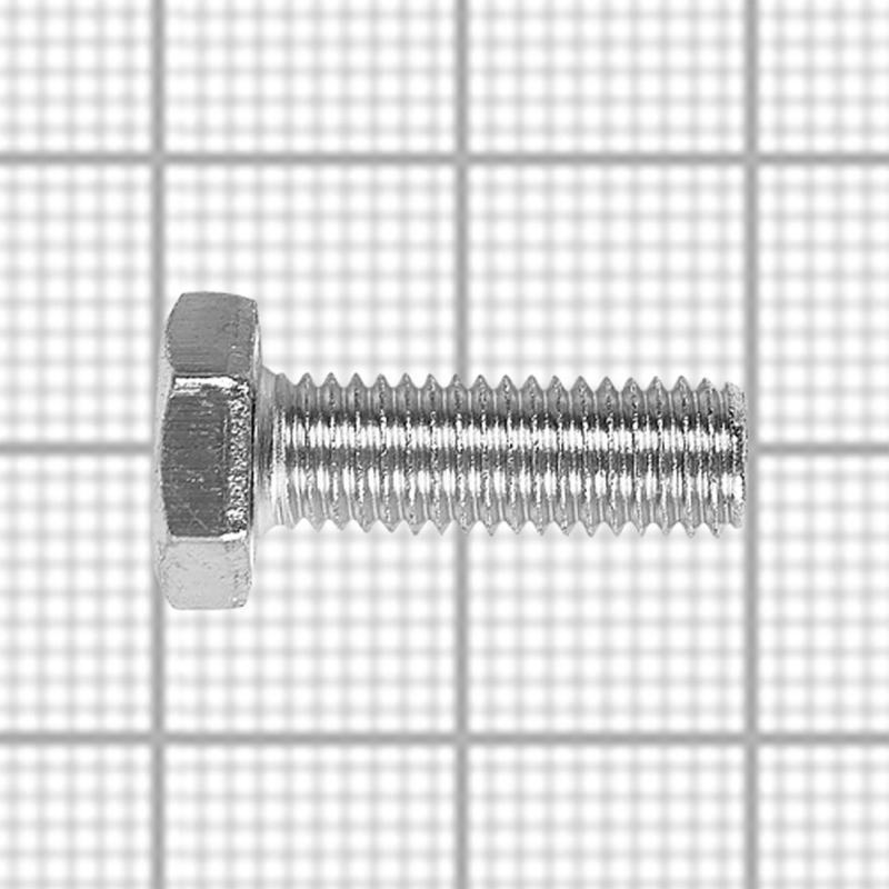 Болт DIN 933 M8x20 мм, на вес