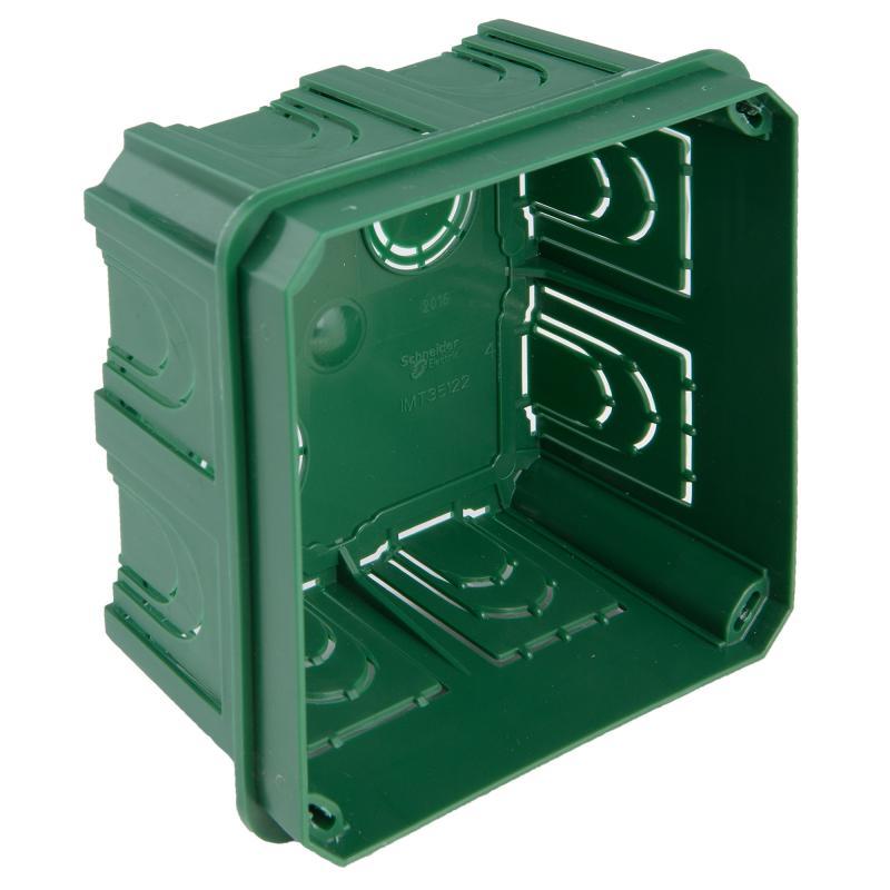 Коробка распределительная Schneider Electric 100x100x50 мм цвет зёленый