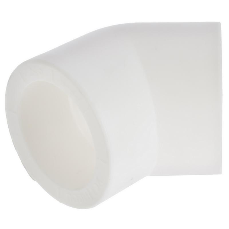Колено Политрон, 45 градусов, 32 мм, полипропилен