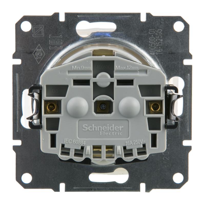 Розетка встраиваемая Schneider Electric Sedna с заземлением, с крышкой, цвет белый
