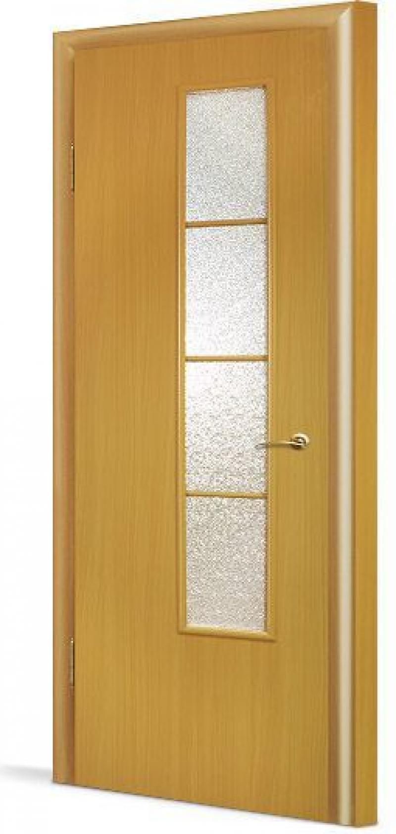 Полотно дверное остекленное с четвертью, 700 мм, орех