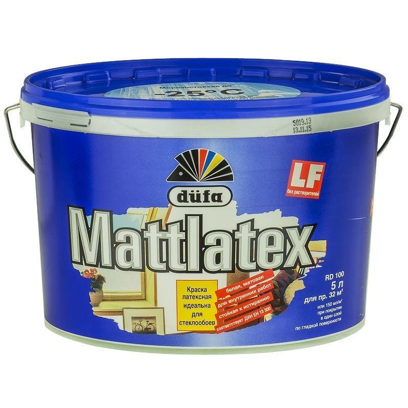 Краска для стен и потолков Dufa Mattlatex 5 л цвет белый