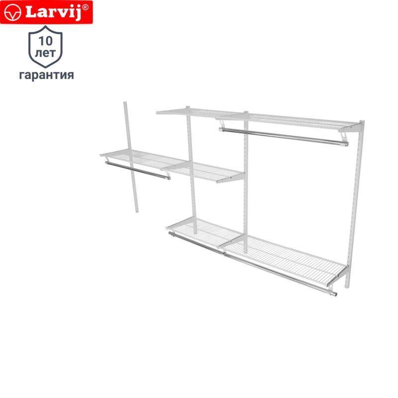 Комплект гардеробной системы с полкой Larvij глубиной 350 мм