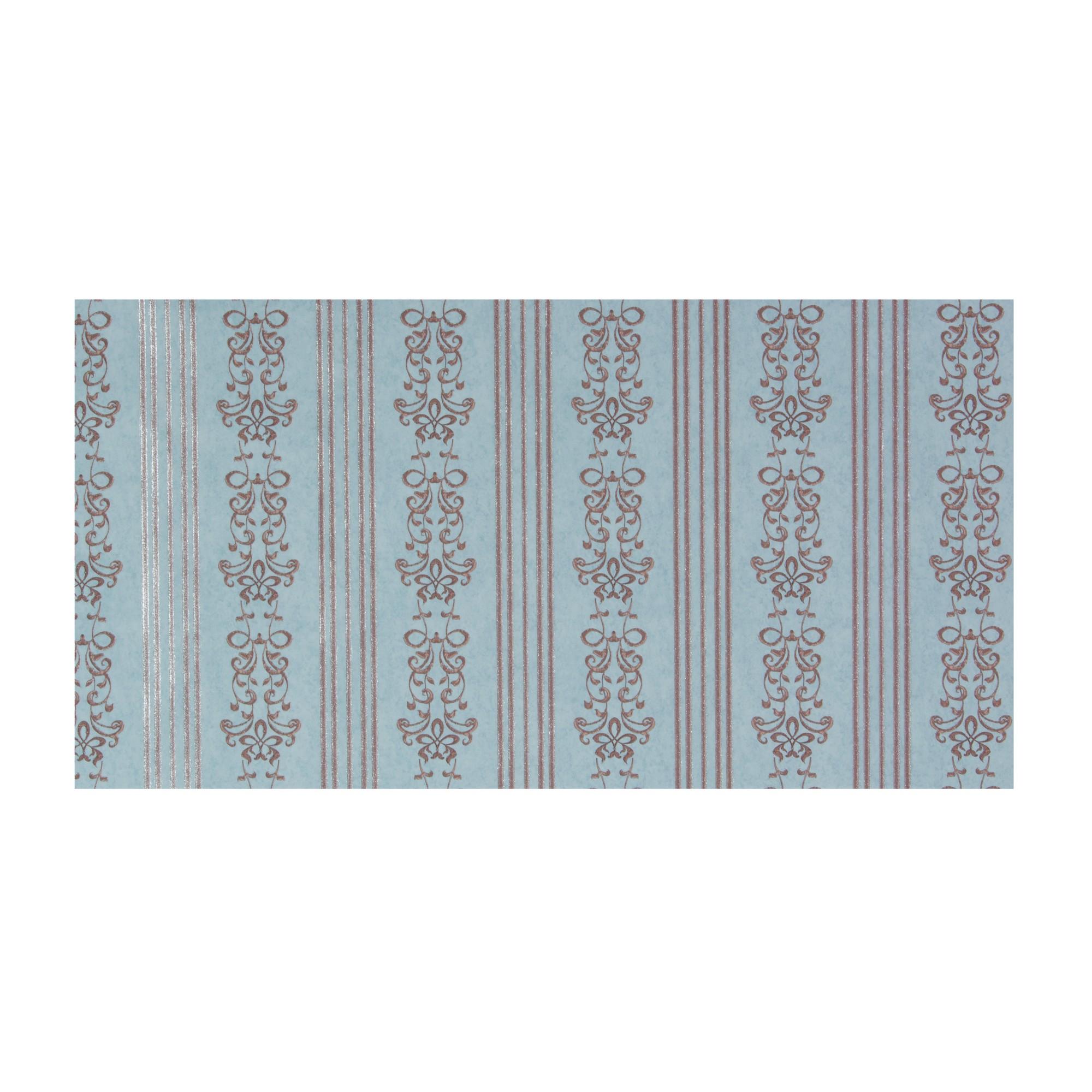 Обои флизелиновые 1.06х10 м полосы цвет бирюзовый АС Пал 70062-68