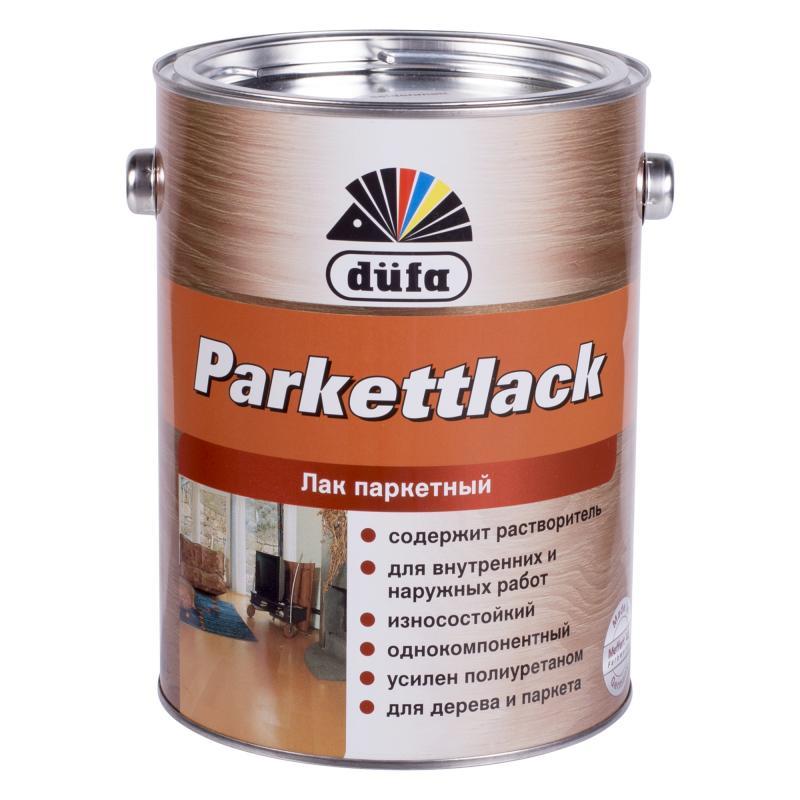 Паркетке арналған лак Dufa Parkettlack, жібек-күңгірт, көлемі 2,5 л, алкидті-полиуретанды негізді, сыртқы және ішкі жұмыстарға арналған