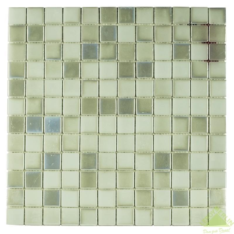 Мозаика стеклянная Vidrepur № 409, белая 317х317 мм