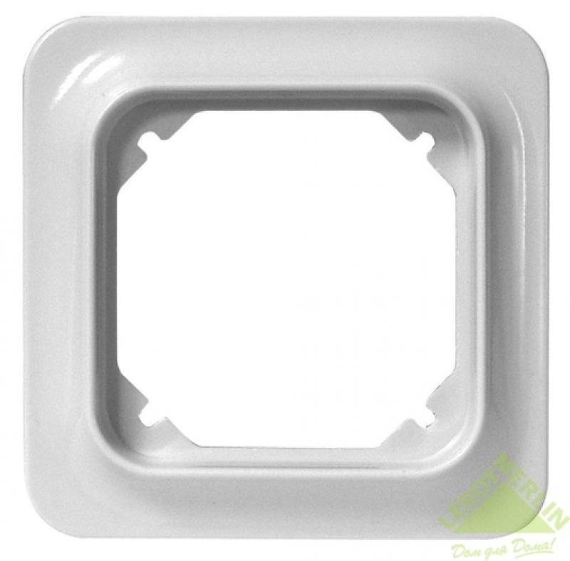 Рамка для розеток и выключателей Eljo Trend, 1 пост, цвет белый