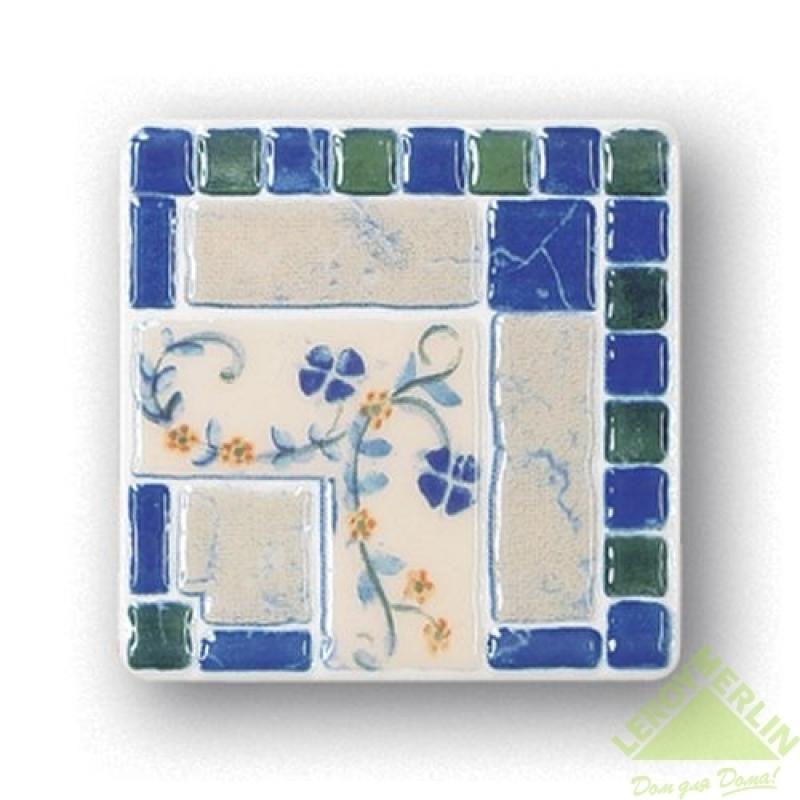 Декор N-Majolika Mezza, цвет темно-синий, 11,5х11,5 см