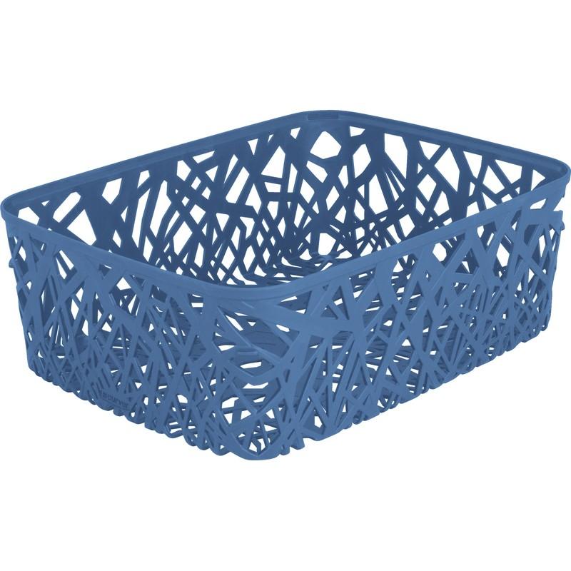 Корзинка прямоугольная Curver Neo голубая