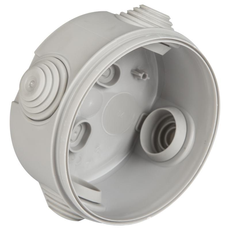 Коробка распределительная круглая Schneider Electric 80x45 мм цвет серый