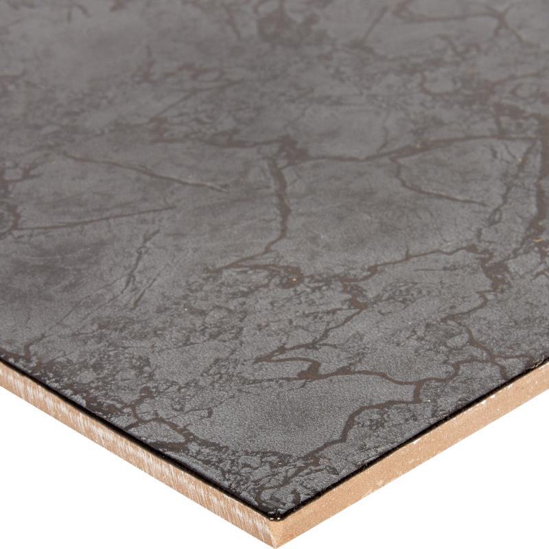 Керамогранит «Цезарь» 33х33 см 1.307 м2 цвет чёрный