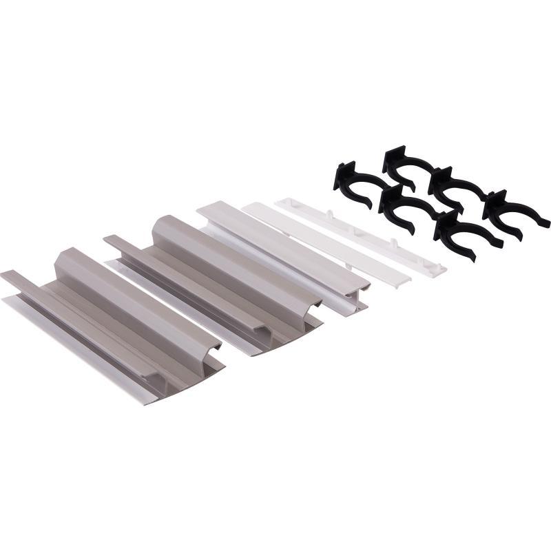 Комплект для установки цоколя ПВХ 150 мм, цвет белый