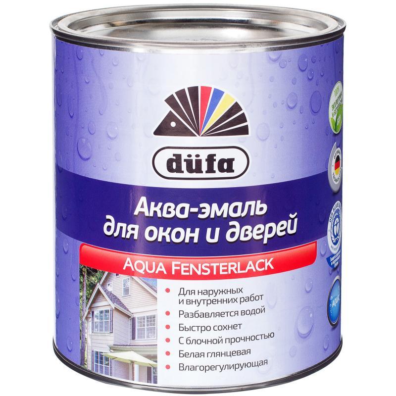 Эмаль для окон Dufa Aqua-Fensterlack цвет белый 2.5 л